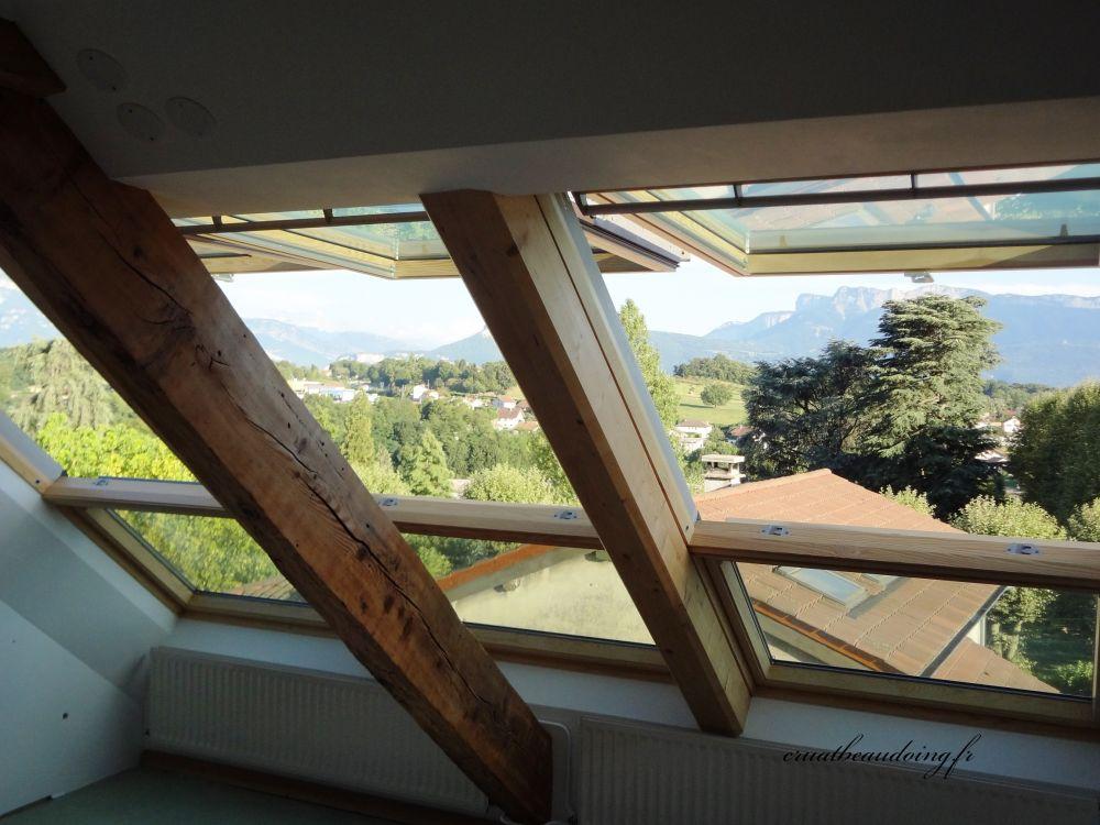 verriere de toit velux finest verriere de toit aussi dans une maison avec une toiture plate. Black Bedroom Furniture Sets. Home Design Ideas