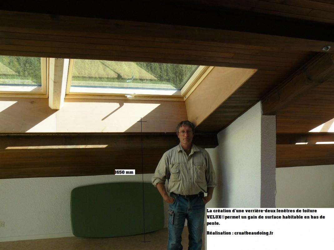 Installateur velux isere installation fenetre toit for Remplacement fenetre de toit