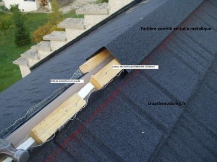 Polytuil couverture de toit tuile metallique for Tuile de faitage prix