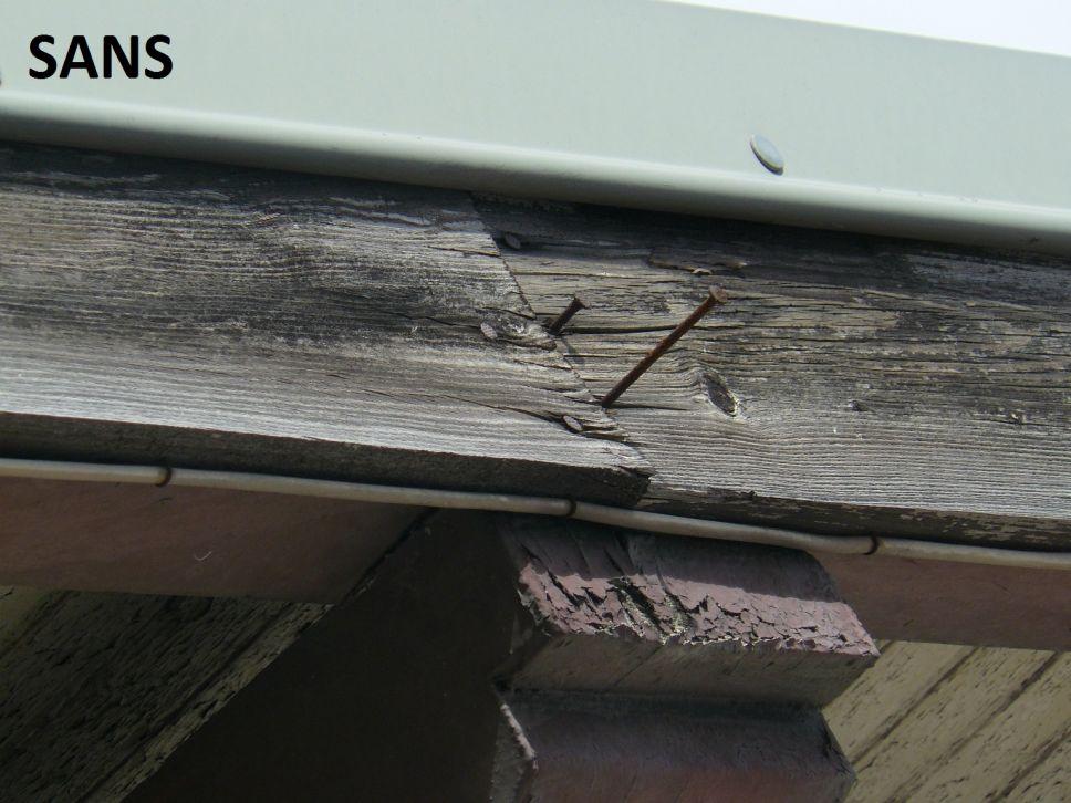 Habillage protection bandeau bois et planche de rives en for Lambris pvc avant toit