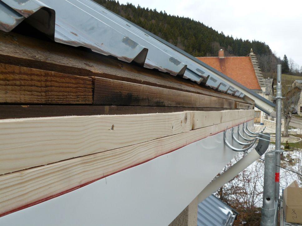 Habillage / protection bandeau bois et planche de rives en tole
