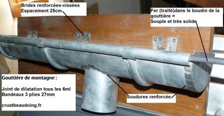 Pose gouttiere de montagne gouttieres en zinc - Poser une gouttiere pvc ...