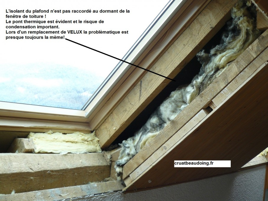 Isolation velux remplacement de velux for Calfeutrer fenetre