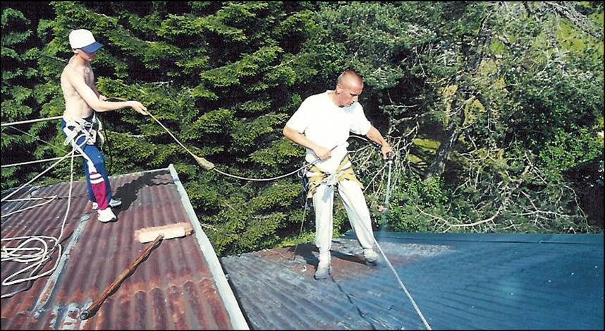 peinture toiture metallique vercors renovation toiture isere peinture toiture sur bac acier. Black Bedroom Furniture Sets. Home Design Ideas