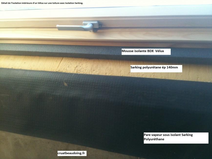 Isolation velux remplacement de velux for Pose d un pare vapeur
