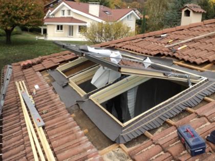 Pose verriere de toit