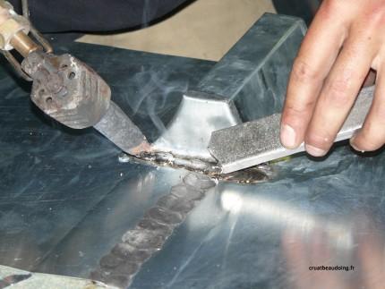 Photo de soudure du zinc